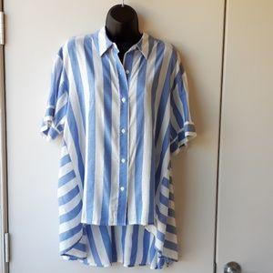 Vince Camuto striped tunic shirt